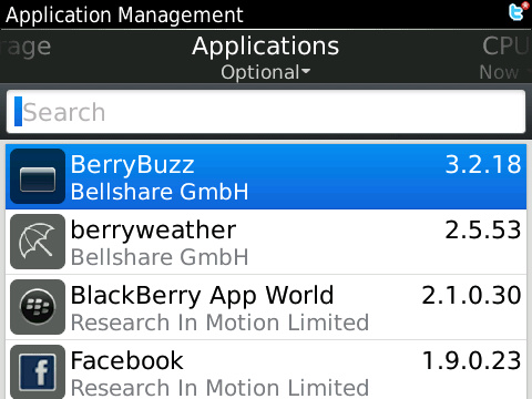 BlackBerry 3rd party apps