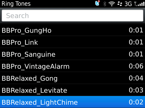 BlackBerry OS 5 Ringtones