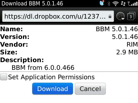 BlackBerry Messenger 5.0.1.46