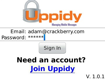 Uppidy for BlackBerry