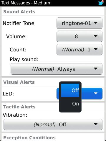 BlackBery LED notifier
