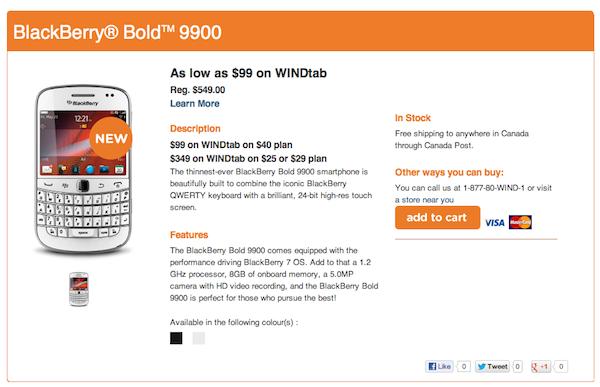 White Bold 9900 WIND