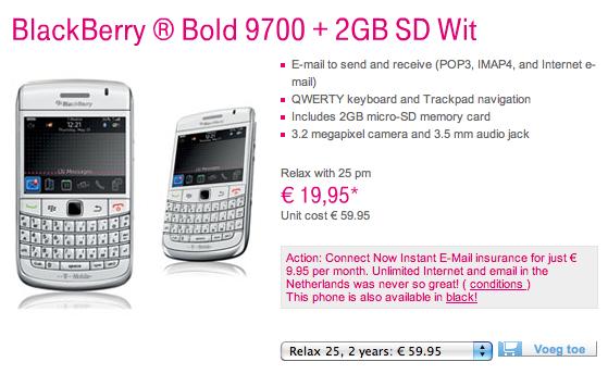White Bold 9700 TMobile