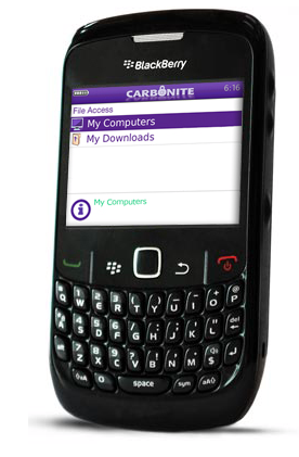 Carbonite for BlackBerry