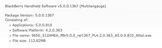 Alltel OS 5.0.0.810