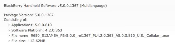Bold 9650 OS 5.0.0.810