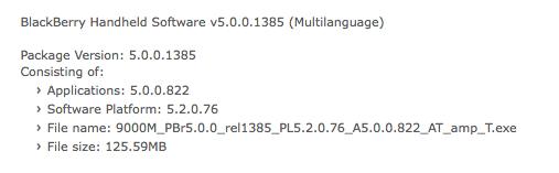 AT&T OS 5.0.0.822 Bold 9000