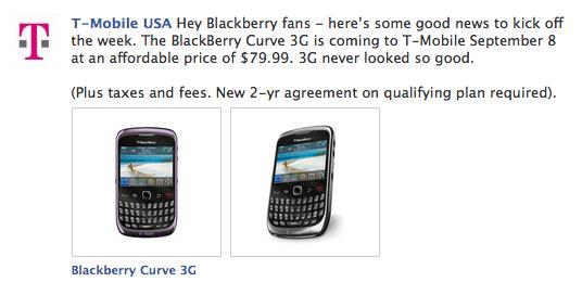 T-Mobile BlackBerry Curve 3G