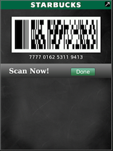 Starbucks Card Mobile for BlackBerry