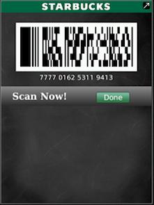 Starbucks Card Mobile for BlackBerry