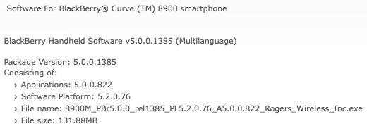 Curve 8900 OS 5.0.0.822