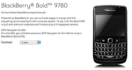 BlackBerry Bold 9780 Bell