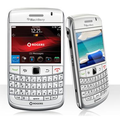 Rogers White BlackBerry Bold 9780