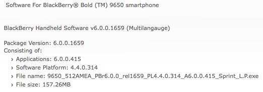 Sprint OS 6.0.0.415 Bold 9650