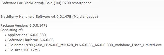 Bold 9700 OS 6.0.0.380