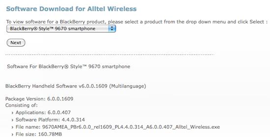 Alltel Style 9670 6.0.0.407