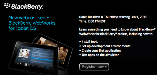BlackBerry WebWorks Webcast