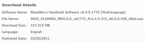 Bold 9650 OS 6.0.0.436