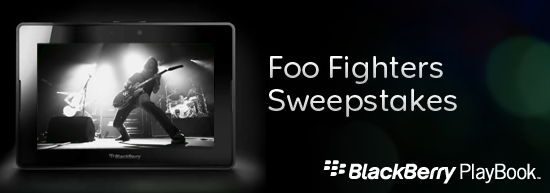 BlackBerry PlayBook Foo Fighters