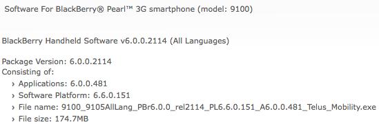 Telus Pearl 3G Os 6.0.0.481
