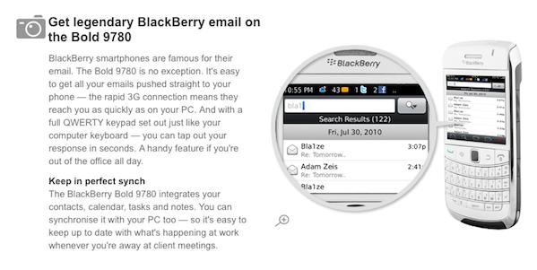 Vodafone BlackBerry 6 Screencap