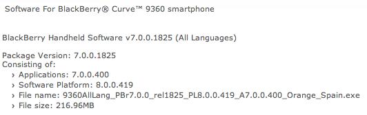 Curve 9360 OS 7.0.0.400