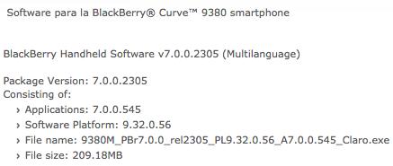 Curve 9380 OS 7.0.0.545