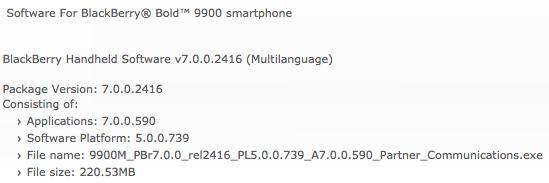 Bold 9900 OS
