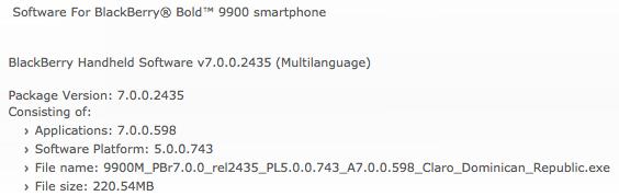 Bold 9900 OS 7.0.0.598