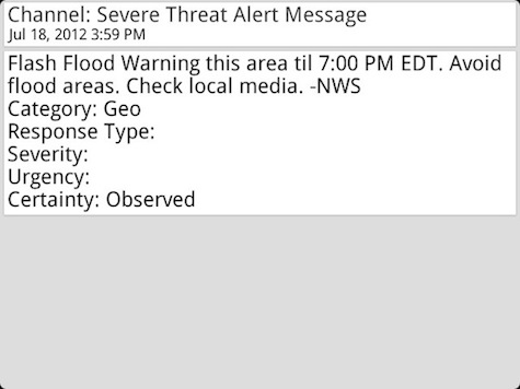 Emergency Alert Text
