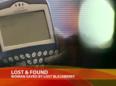 Lost BlackBerry saves life