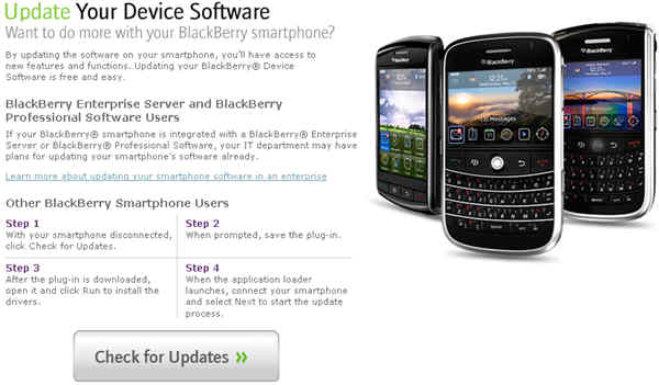 BlackBerry Web Update