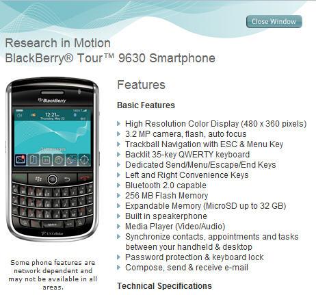 US Cellular Tour 9630