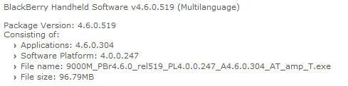 Bold OS 4.6.0.304