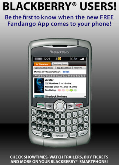 Fandango For BlackBerry