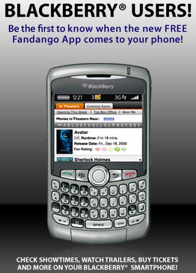 Fandango For BlackBerry