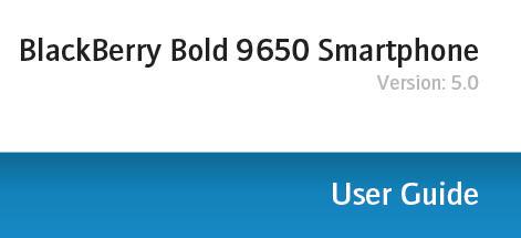 Bold 9650 User Guide
