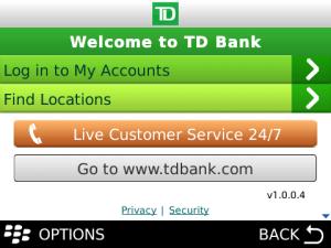 td bank internet banking