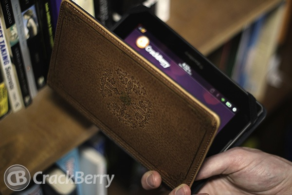 The BlackBerry PlayBook in the Lightwedge Verso cover