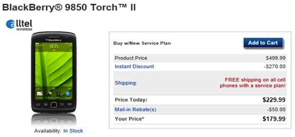 Alltel BlackBerry Torch 9850
