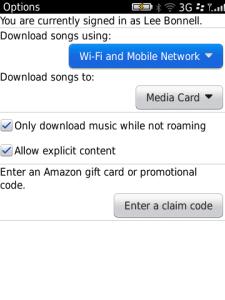 Amazon MP3 BlackBerry