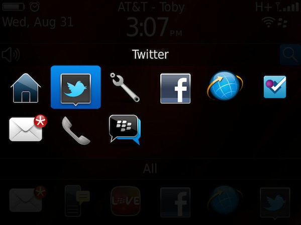 BlackBerry App Switcher