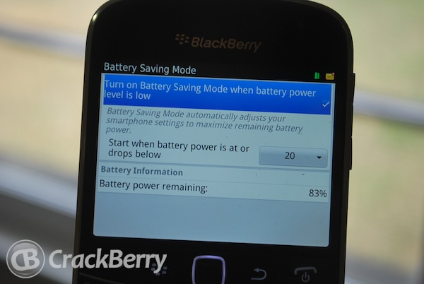Battery Saving Mode