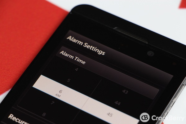 BlackBerry 10 Alarm
