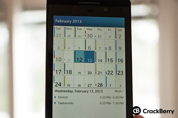 BB10 Calendar