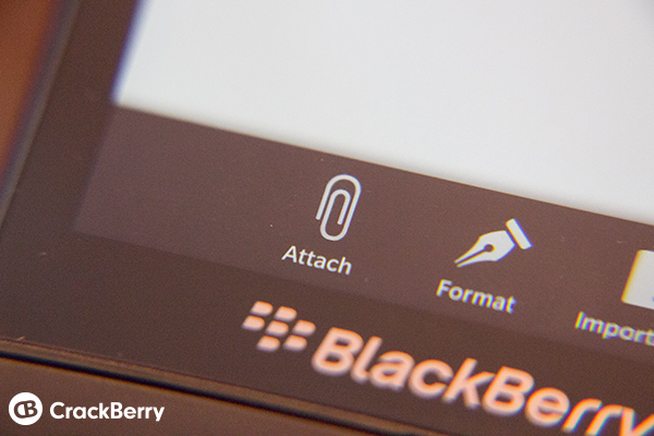 BB10 Attach Email