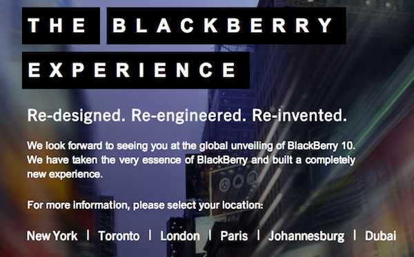 BlackBerry Media Event