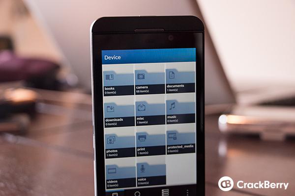 BlackBerry 10 File Manager