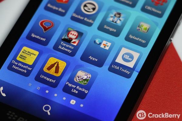 BlackBerry 10 Folders