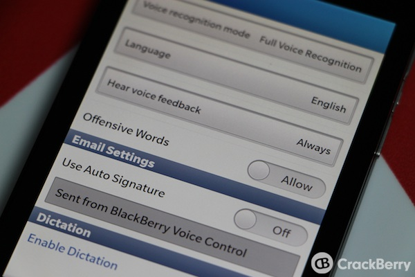 BlackBerry 10 Offensive Words